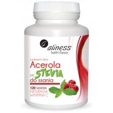 Acerola ze Stevią do ssania 120 tab Suplement diety Acerola ze stevią do ssania to produkt naturalny...