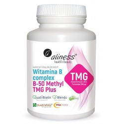 Witamina B Complex B-50 Methyl TMG PLUS Zawarta w produkcie witamina B12 jest wersję fermentowaną