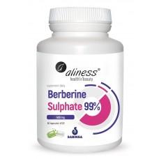 Berberyna Berberine Sulphate 99% 400 mg   60 kapsułek VEGE - zmniejsza poziom trójglicerydów i cholesterolu, silniej niż statyny...