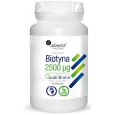 Biotyna 2500 mcg QualiBiotin  x 120 tabletek VEGE - Biotyna bierze udział w utrzymaniu zdrowych włosów