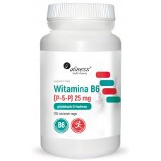 Witamina B6 25 mg x 100 tabletek VEGE - przyczynia się do regulacji aktywności hormonalnej