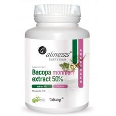 Bacopa monnieri extract 50%, 500 mg  100 kapsułek VEGE - wspomaga centralny system nerwowy, środek wzmacniający układ nerwowy i mózg