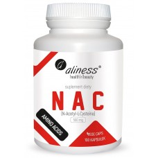 NAC 500 mg  N-Acetyl-L-Cysteine - jest to główny składnik białkowy skóry, włosów oraz paznokci, co więcej uczestniczy także w wytwarzaniu kolagenu