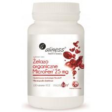 Żelazo organiczne MicroFerr 25 mg x 100 tabletek VEGE - pomaga w prawidłowej produkcji czerwonych krwinek i hemoglobiny