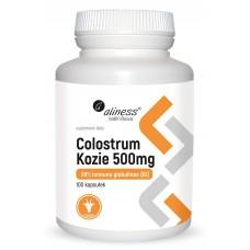 Colostrum kozie 28% 500 mg  100 kapsułek - pochodzące z najwyższej jakości mleka..