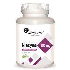 Niacyna 500 mg   Amid kwasu nikotynowego   100 kapsułek VEGE