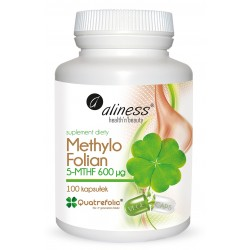 Methylo Folian 5-MTHF 600 µg  Najbardziej przyswajalna biologicznie forma folianu