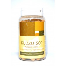 Kudzu 500mg x 100 kapsułek - Działa pomocniczo przy odstawieniu alkoholu, nikotyny oraz substancji psychoaktywnych..