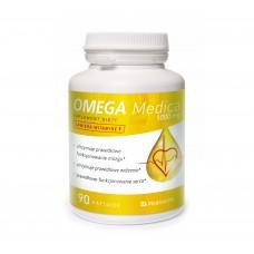 OMEGA 3 MEDICA 90 kap 1000mg z Wit E utrzymuje prawidłowe funkcjonowanie mózgu...